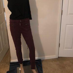 American Eagle burgundy pants